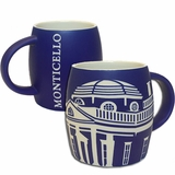 Monticello Etched Blue Mug