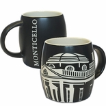 Monticello Etched Mug
