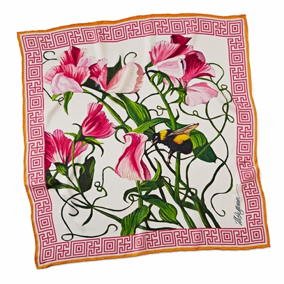 Monticello Sweet Pea Scarf