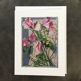 Painted Lady Sweet Pea Notecard