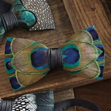 Peacock Feather Bowtie