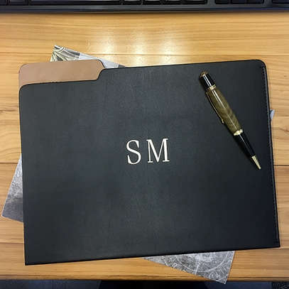 Personalized Leather File Folder