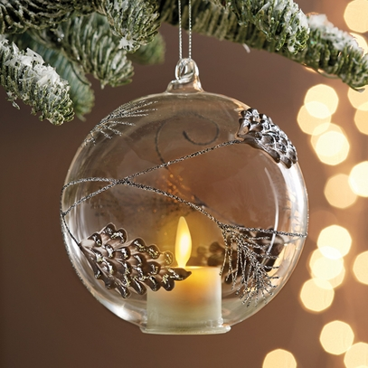 Pinecone Candle Light Ornament