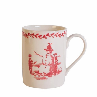 Porcelain Winter Scene Mug