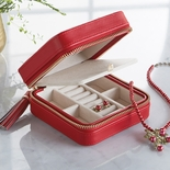 Red Travel Jewelry Wallet