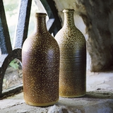 Salt-Glazed Stoneware Beer Bottle