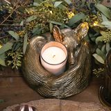 Sleepy Fox Candleholder