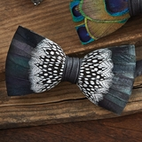 St. Pierre Feather Bow Tie