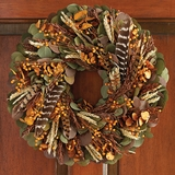 Wild Feather Wreath