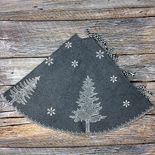 Woodland Gray Wool Tree Skirt