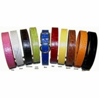 1-1/2 inch wide Faux Crocodile Leather Collars