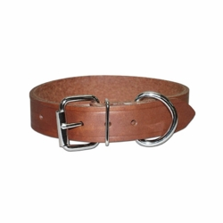1-1/4 inch wide Leather Dog Collar