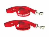 1 in x 6 ft.  Personalized Nylon Leads