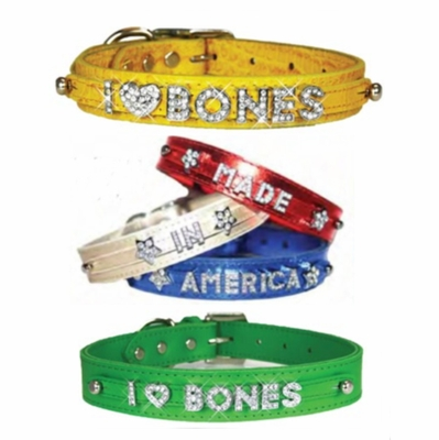 1 inch Leather Slider Dog Collars