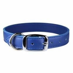 1 inch wide Leather Dog Collar