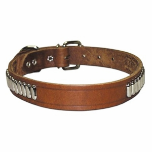1 inch wide Oblong Studded Bully Collar