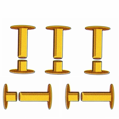 2- Piece Rivets for Dog Collar name plates (10-pack)