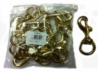 3/4 x 3-1/8 Brass Bolt Snaps (bag of 12)