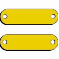 3/4  x 3  Blank Brass Name Plates for Dog Collars
