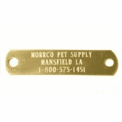 5/8 inch wide Brass name plate