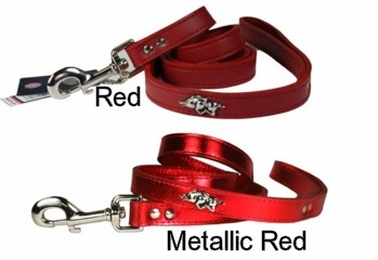 Arkansas Razorback Leather Dog Leash
