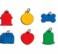 Blank  Aluminum Hang Tags (bag of 25)