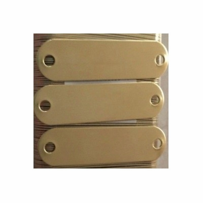 Blank Brass Dog Collar Name Plates