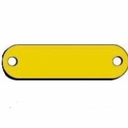 Blank Brass Name Plates for dog collars  5/8 x 2-3/4