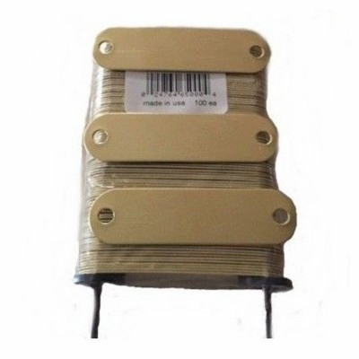 Blank Brass Name Plates 5/8 x 2-3/4  (100 pack)