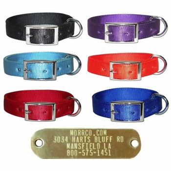 Bravo 2 ply Nylon Collar with Brass Name Plate