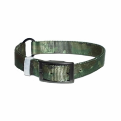 Bravo Ring in center Camouflage Nylon Dog Collar