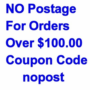 Coupon code Free Shipping for orders over $100.00
