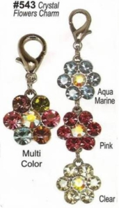 Crystal Flower Charms