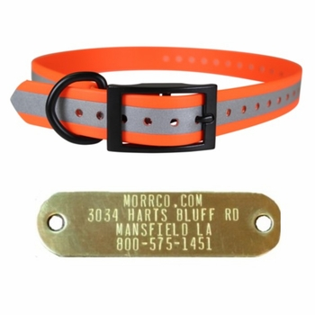 Cut To Fit Reflective Collar with Name Plate