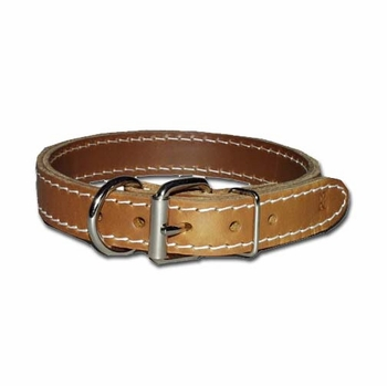 Dee-in-Front Two ply leather Dog Collars 1 Inch Wide
