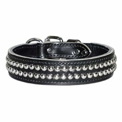 Dome Stud Leather Dog Collar