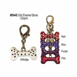 Dot Enamel Bone Charms