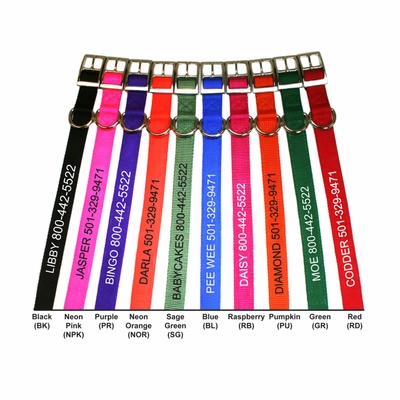 Embroidered Nylon Collars
