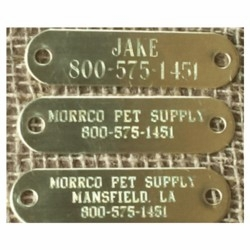 3/4 inch wide Engraved Brass Name Plate