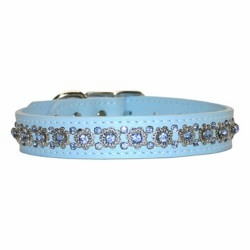 Fancy Filigree Rhinestone Dog Collar  3/4 inch wide