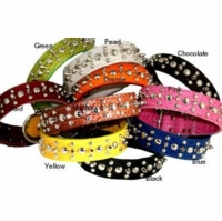 Faux Crocodile Collars with Spikes and Studs