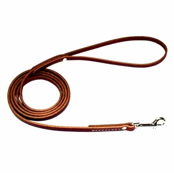 Flat Latigo Leather Dog Leads