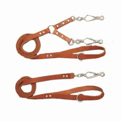 French Snap Leather Dog Leads