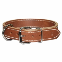 Front D Thick Leather Dog Collar
