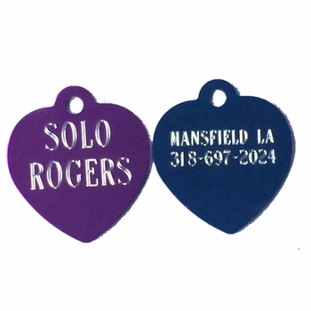 Heart Shaped Dog ID Tag