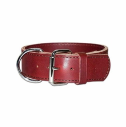 2 Inch Wide 2 ply Leather Dog Collar