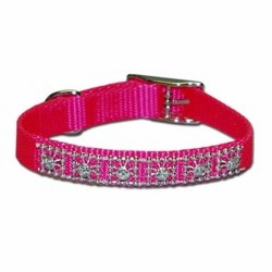 Jeweled Nylon Collar 3/8 inch wide