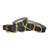 Latigo Leather Collar with Brass Hardware