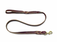 Latigo Leather Twist Dog Leads