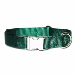 Metal Kwik Klip buckle Adjustable Dog Collars 1 inch